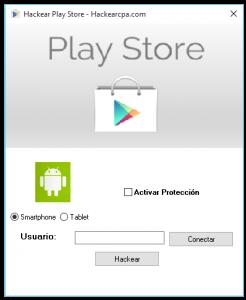 hackear play store
